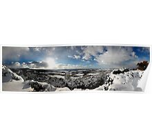 Great Ayton and Tees Valley, Winter Panorama Poster
