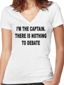 Nothing to Debate Women's Fitted V-Neck T-Shirt