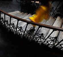 Stairs with Yellow Coat by PaulBradley