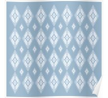 White and Blue Diamonds Poster