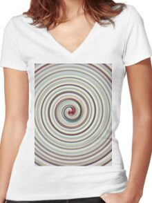 The Circles of Life Women's Fitted V-Neck T-Shirt