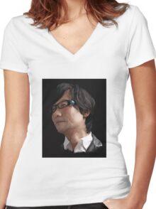 KOJIMA Women's Fitted V-Neck T-Shirt