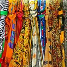 Colourful african scarves by Bruno Beach