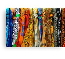 Colourful african scarves Canvas Print