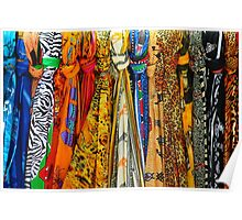 Colourful african scarves Poster