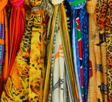 Colourful african scarves Sticker
