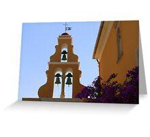 Church Bells at Theotokou Monastery Greeting Card