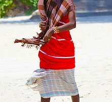 Beach artisan in Mombasa, KENYA by Atanas Bozhikov Nasko