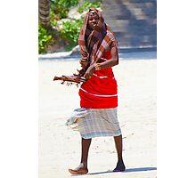 Beach artisan in Mombasa, KENYA Photographic Print