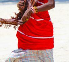 Beach artisan in Mombasa, KENYA Sticker