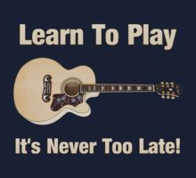 Learn To Play Acoustic Guitar One Piece - Short Sleeve