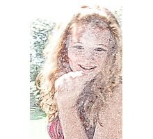 Alexis with colored Pencil filter Photographic Print