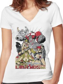 LEGENDS OF THE 80´S Women's Fitted V-Neck T-Shirt