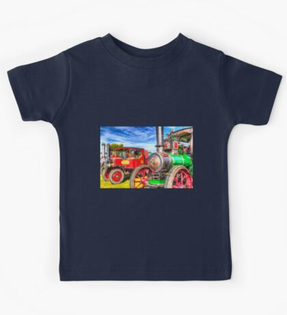 Traction Engine and Steam Lorry Art Kids Tee