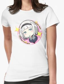 SHIMONETA: A Boring World Where the Concept of Dirty Jokes Doesn't Exist - Anna Badge (Render) Womens Fitted T-Shirt