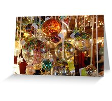 Hanging Balls Greeting Card