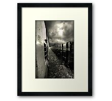 train in the clouds ... Framed Print