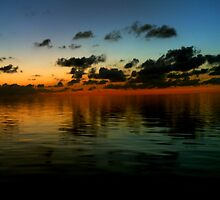 Sunset Ocean Horizon by ChopKickPanda