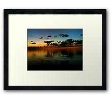 Sunset Ocean Horizon Framed Print