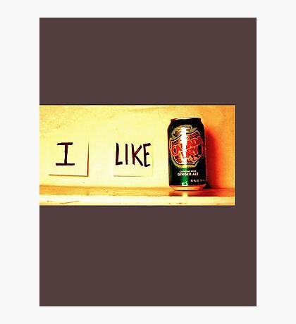 I Like Ginger Ale Photographic Print