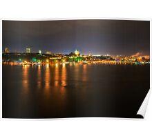 Quebec City at night Poster