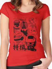 Tokusatsu   Assemble Women's Fitted Scoop T-Shirt