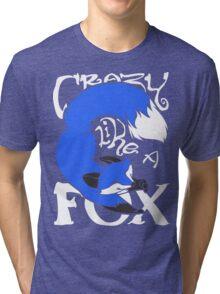 Crazy Like A Fox (Blue) Tri-blend T-Shirt