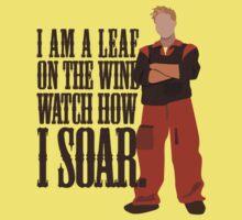 I'm Leaf On the Wind  Kids Tee