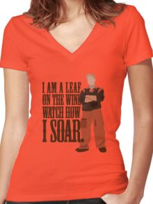 I'm Leaf On the Wind  Women's Fitted V-Neck T-Shirt