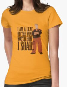 I'm Leaf On the Wind  Womens Fitted T-Shirt