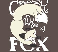 Crazy Like A Fox (White) Unisex T-Shirt
