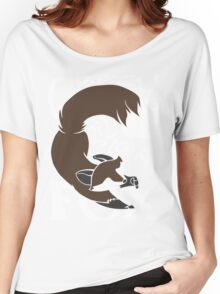 Crazy Like A Fox (Brown) Women's Relaxed Fit T-Shirt
