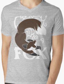 Crazy Like A Fox (Brown) Mens V-Neck T-Shirt