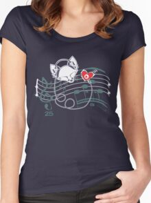 Feel the Music Women's Fitted Scoop T-Shirt