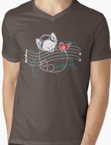 Feel the Music Mens V-Neck T-Shirt