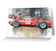 Ferrari 156 Italian GP 1961 Greeting Card