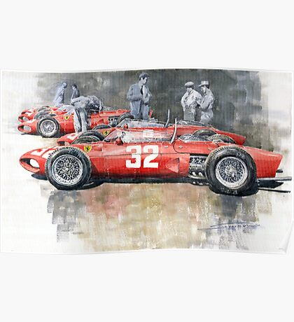 Ferrari 156 Italian GP 1961 Poster