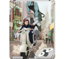 Kekkai Sensen - Leonardo, Zapp and Zed on vespa iPad Case/Skin