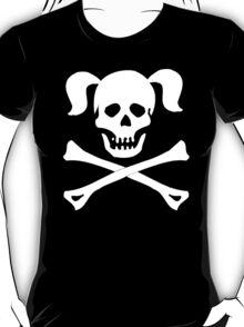 Skull Crossbones Pigtails T-Shirt