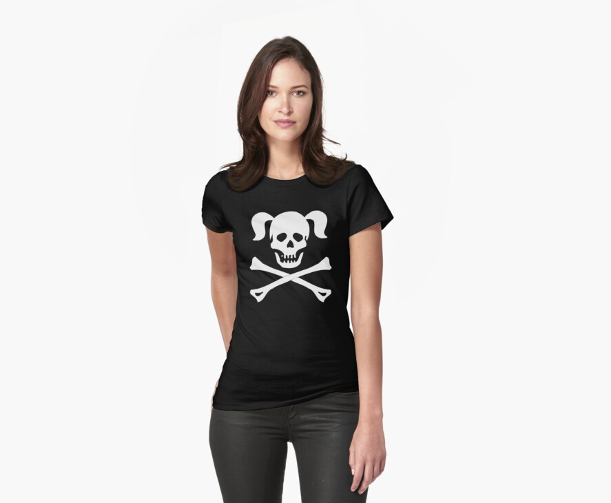 Skull Crossbones Pigtails by SportsT-Shirts