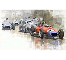 Red Car Ferrari 801Mike Hawthorn German GP 1957  Photographic Print
