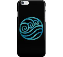 Water Tribe Watercolor Symbol (on black) iPhone Case/Skin