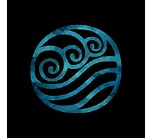 Water Tribe Watercolor Symbol (on black) Photographic Print