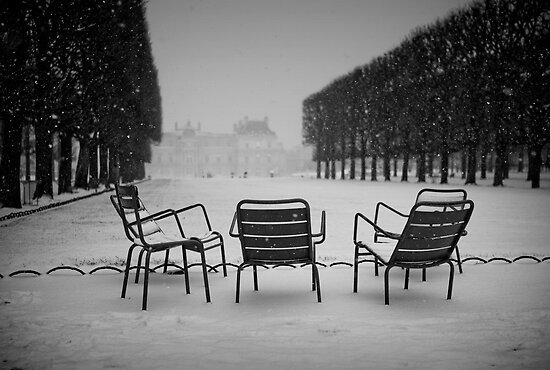 Paris in the snow (2) by Laurent Hunziker