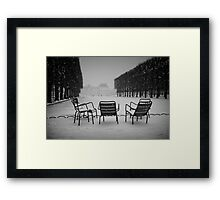 Paris in the snow (2) Framed Print