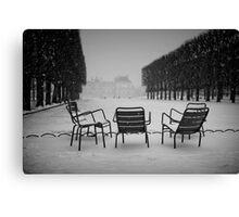Paris in the snow (2) Canvas Print