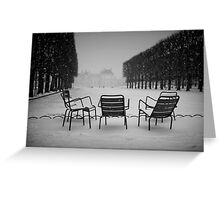 Paris in the snow (2) Greeting Card