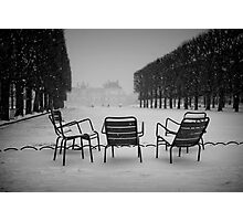 Paris in the snow (2) Photographic Print