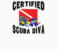 Certified SCUBA Diva Womens Fitted T-Shirt