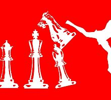 Kickboxing White Chess Jumping Back Kick  by yin888